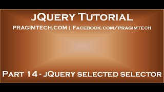jQuery selected selector