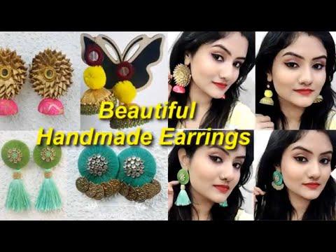 Affordable Handmade Earrings Review & Try On | Silk Thread Tassel/Jhumka Earrings | Nikki's Passion