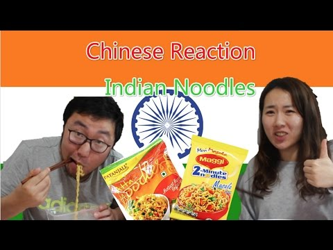 Chinese Try Indian Instant Noodles For The First Time|Chinese Reaction|Food Tasting