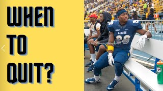 Why Quit the Football Team (For all athletes at any level)