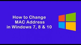 How to change mac address all windows OS