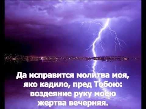 Да исправится молитва моя  Павел Чесноков текст