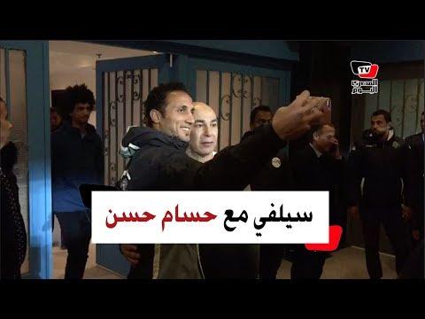 الجماهير تلتقط «السيلفي» مع حسام حسن عقب فوز بيراميدز على حرس الحدود