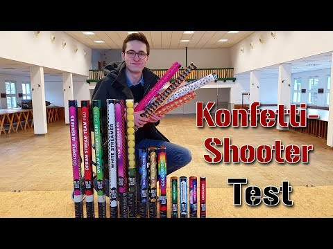 Konfetti-Shooter Test | Karneval 2018 | Konfettikanonen