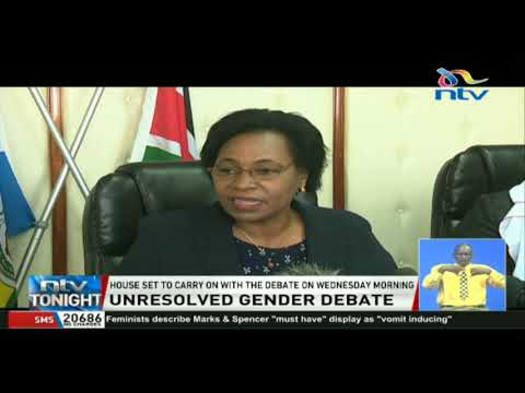 Debate on the two-thirds gender rule remains undecided
