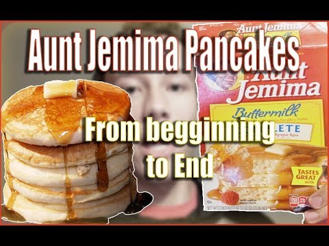 THE BEST FLUFFY AUNT JEMIMA PANCAKES HOW TO MAKE FROM BEGGINING TO END | FROM THE BOX