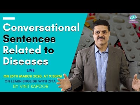 Daily Use Sentences Related To Diseases| Conversational Sentences About Corona| By Vinit Kapoor
