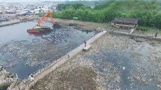 Pantauan Udara, Sampah Muara Angke Sudah Mulai Berkurang