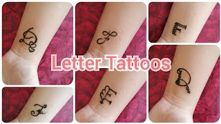 LETTER TATTOOS || D E F || Part-2