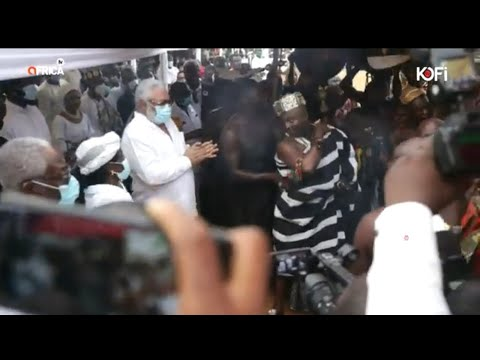 John Dramani Mahama At Jj Rawlings Mother Funeral