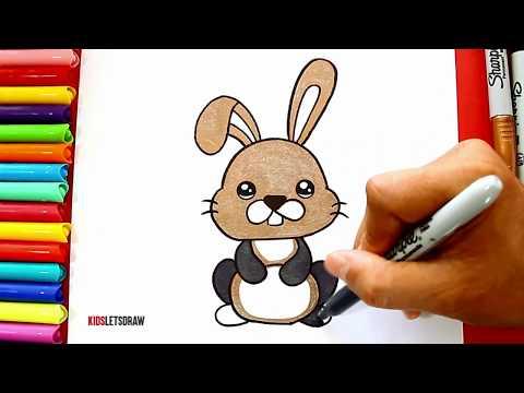 Aprende Cómo Dibujar un CONEJO Kawaii | Learn to draw a Cute Bunny easy