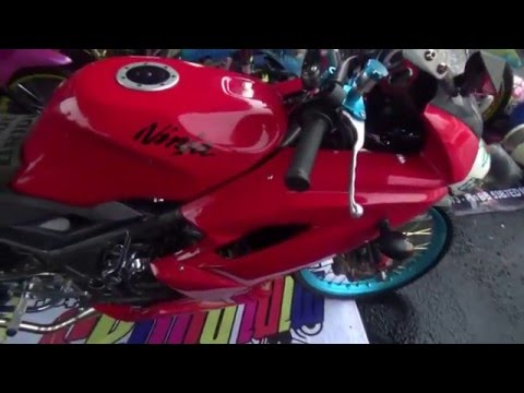 Video Modifikasi Ninja RR 150 red