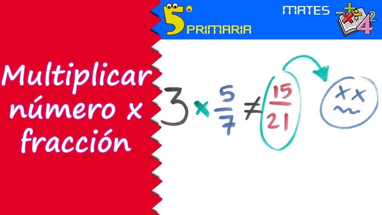 Multiplicar número por fracción. Mate, 5º Primaria. Tema 6