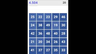 """Try to remove the numbers from 1 to 50 by touching on your screen in the """"correct sequence."""""""