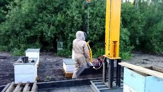 Работа манипулятора пасечного Медуница (часть 2)
