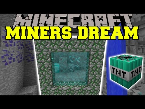 Minecraft: MINERS DREAM (DIMENSION WITH TONS OF ORES, ITEMS, & MORE!!) Mod Showcase