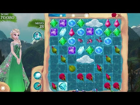Frozen Free Fall iPhone Gameplay #3