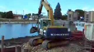 Komatsu PC180NLC Loading Trucks In A Dredging Project - Italy 2007
