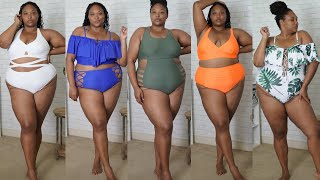 PLUS SIZE AMAZON BATHING SUIT HAUL!! Affordable Plus Size Bathing Suits for Summer #plussizefashion