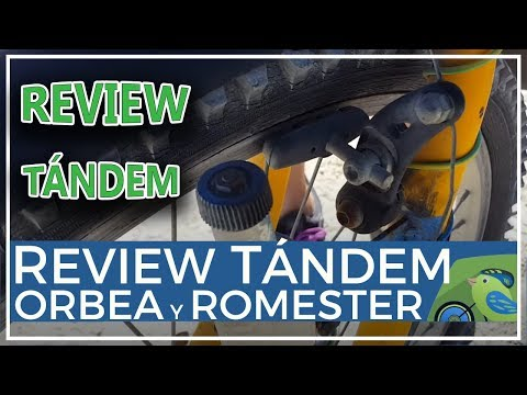 Review bicicleta tándem casera con Orbea y Romester