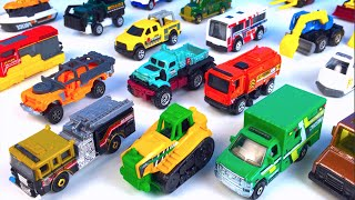 MATCHBOX ON A MISSION MBX MIGHTY MACHINES CARS TRUCKS HEROIC RESCUE & POLICE BULLDOZER  FIRE TRUCK