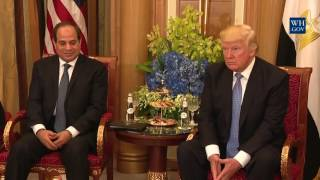 President Trump Participates in a Bilateral Meeting with the President of Egypt