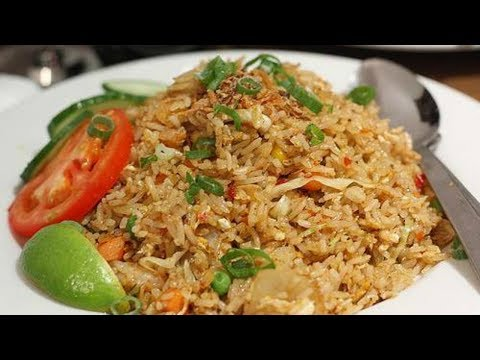 Spicy Fried Rice Cooking -   Indonesian Home Made Food - Nasi Goreng Pedas Recipe