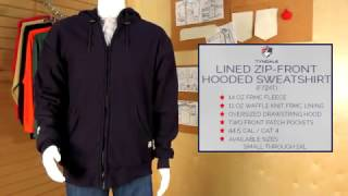 Lined Zip Front Hooded Sweatshirt Product Video F724T
