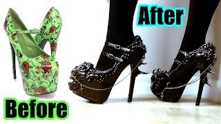 DIY Custom Gothic Shoes! Hand Sculpted!