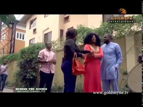 Iyabo Ojo, Desmond Elliot, Ini Edo and Halima In 'Beyond Disability' [ Behind The Scenes]