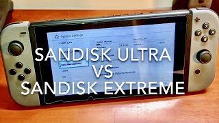 BEST MEMORY CARD FOR NINTENDO SWITCH!! SanDisk Ultra vs SanDisk Extreme REVIEW!!