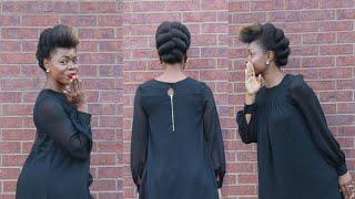 Easy Natural Hair Updo | MariaAntoinetteTV