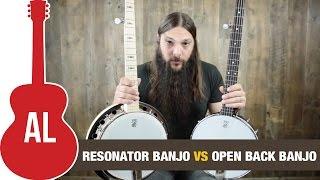 Resonator vs Open Back Deering Banjo Comparison