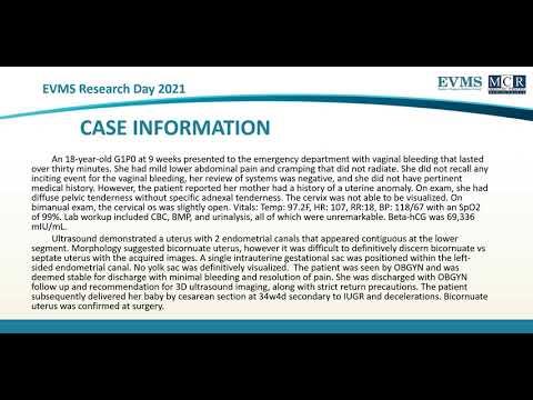 Thumbnail image of video presentation for Imaging Findings of Bicornuate Uterus at 9 weeks Gestation