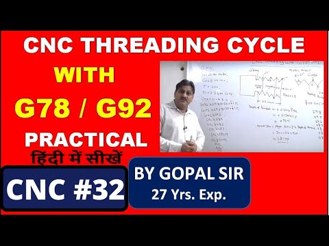 HOW TO MAKE CNC THREADING PROGRAMMING WITH G92 / G78 CODE IN CNC