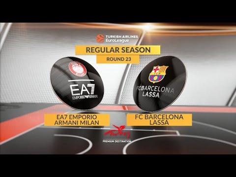 EuroLeague Highlights RS Round 23: EA7 Emporio Armani Milan 78-83 FC Barcelona Lassa