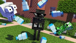 Monster School : FUNNY BOTTLE FLIP Challenge - Minecraft Animation