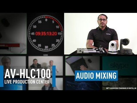 AV-HLC100 Live Production Center: Audio Inputs|Outputs & Mixing
