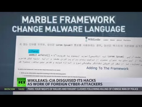 , title : 'Vault 7: 'Marble' tool could mask CIA hacks as work of foreign cyber-attackers - WikiLeaks'