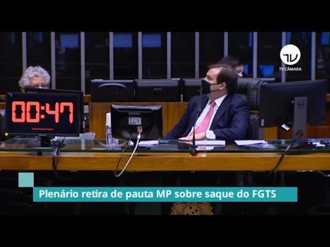 Plenário retira de pauta MP do saque do FGTS - 04/08/20