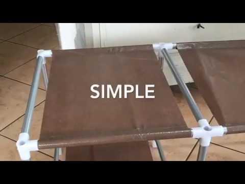 Leogreen   Armoire et penderie de rangement en toile, Simple, facile à monter et pas cher