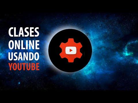 Emitir clases en directo a través Youtube
