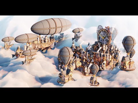 Minecraft Builders Create Impressive Floating Steampunk City