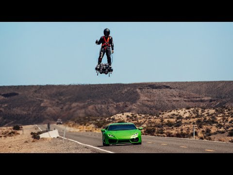 This Man Hits 100 mph on a Hoverboard
