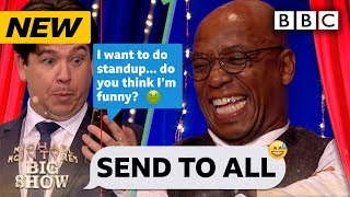Ian Wright's mates text pranked in Send To All! 😂   Michael McIntyre's Big Show - BBC