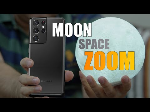 Samsung Galaxy S21 Ultra 100x Space ZOOM test - can it capture the Moon? (Moon Zoom Test)