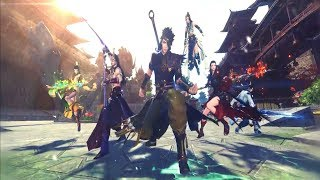 Legend of the Ancient Sword Online - 3rd CBT All Class Skills vs Battle Systems Gameplay Trailer