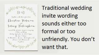 Guide on Writing Great Wedding Invitation Messages with Samples