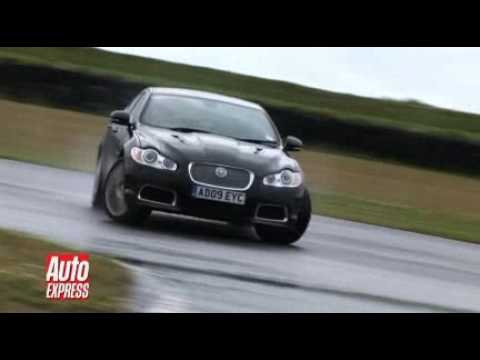 Jaguar XFR drift montage - Auto Express