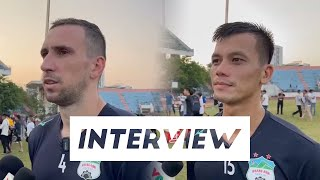 Phỏng vấn | Memovic và Hữu Tuấn trả lời báo chí trước trận SHB Đà Nẵng | HAGL Media
